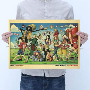16 styles One Piece Poster Wall Sticker Vintage - TheAnimeSupply