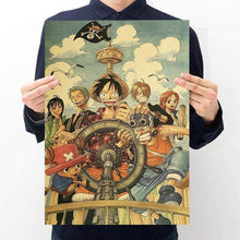 Load image into Gallery viewer, 16 styles One Piece Poster Wall Sticker Vintage - TheAnimeSupply