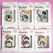 Load image into Gallery viewer, 6pc/Lot of Haikyuu Ring Phone Holder