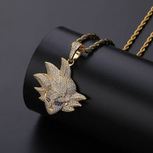 Load image into Gallery viewer, Goku Pendant Necklace Dragon Ball Z Chain