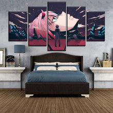 Load image into Gallery viewer, Darling in the Franxx Zero Two 5 piece canvas anime art - TheAnimeSupply