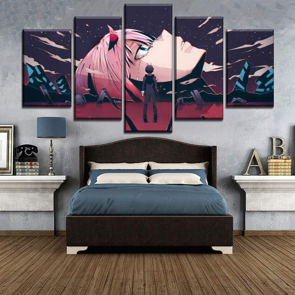 Darling in the Franxx Zero Two 5 piece canvas anime art - TheAnimeSupply