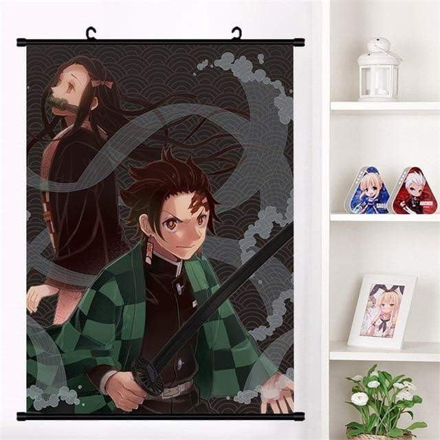 Anime Demon Slayer: Kimetsu no Yaiba Kamado Tanjirou Kamado Nezuko Wall Scroll Poster - TheAnimeSupply