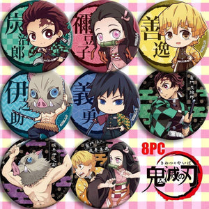 Anime Demon Slayer: Kimetsu no Yaiba Kamado Tanjirou Cosplay Badge Badges Button Brooch Pins - TheAnimeSupply