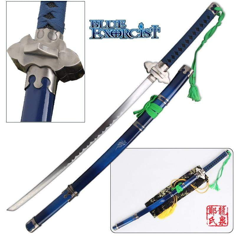 41 Inch Blue Exorcist Sword Ao no Ekusoshisuto Rin Okumura Kurikara Katana (Not Sharp) - TheAnimeSupply