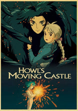 Load image into Gallery viewer, Howl's Moving Castle Vintage Poster