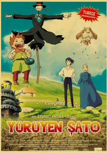 Howl's Moving Castle Vintage Poster