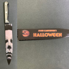 Load image into Gallery viewer, Michael Myers Kitchen Knife with Matching Knife Stand