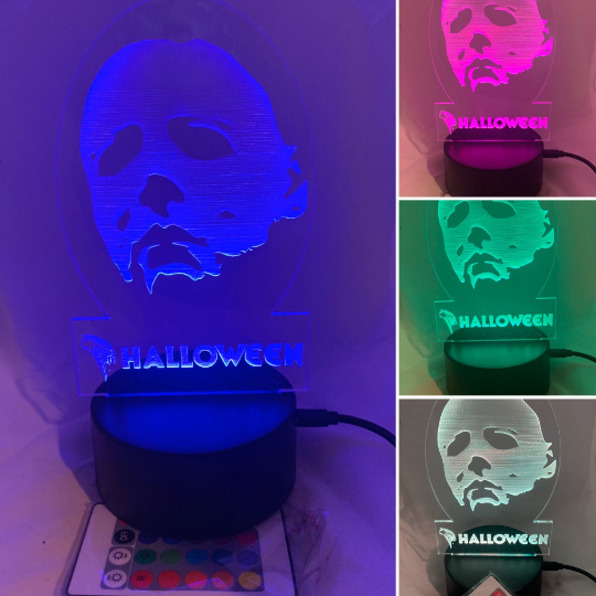 Michael Myers Night Light Halloween Desk Light