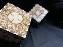 Load image into Gallery viewer, Hellraiser Puzzle Box Laser Engraved Puzzle Box Cube with Stand