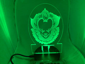 Pennywise Night Light Stephen King It Desk Light