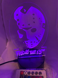 Jason Voorhees Night Light Friday the 13th Desk Light