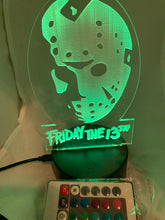 Load image into Gallery viewer, Jason Voorhees Night Light Friday the 13th Desk Light