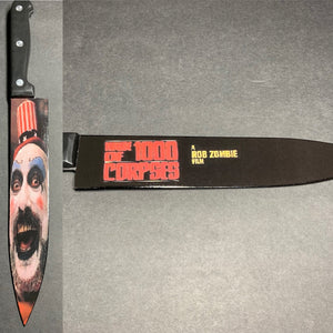 Captain Spaulding House of 1000 Corpses Kitchen Knife With/Without Laser Engraved Stand