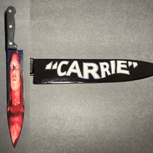 Load image into Gallery viewer, Carrie Prom 1976 Horror Kitchen Knife With/Without Laser Engraved Stand