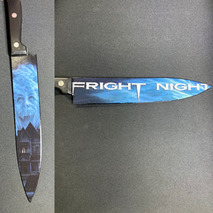 Fright Night 1985 80's Horror Kitchen Knife With/Without Laser Engraved Stand