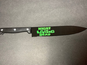 Night of the Living Dead 1968 Romero Kitchen Knife With/Without Laser Engraved Stand