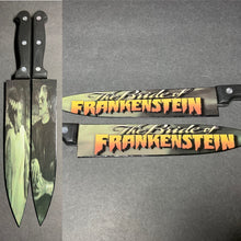 Load image into Gallery viewer, Bride of Frankenstein Horror Kitchen 2 Knife Set With/Without Laser Engraved Stands