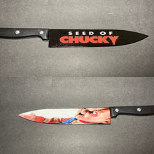 Load image into Gallery viewer, Seed Of Chucky Knife With/Without Laser Engraved Stand