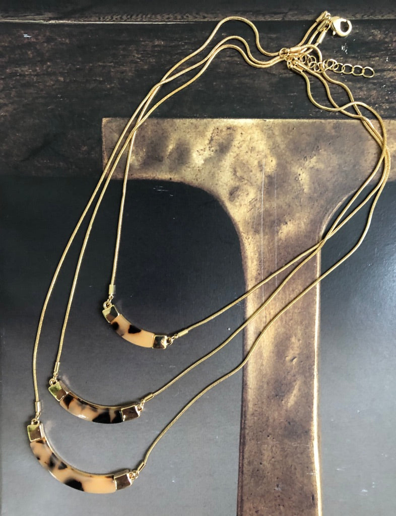 Gold Snake Necklace - Marabou Jewelry