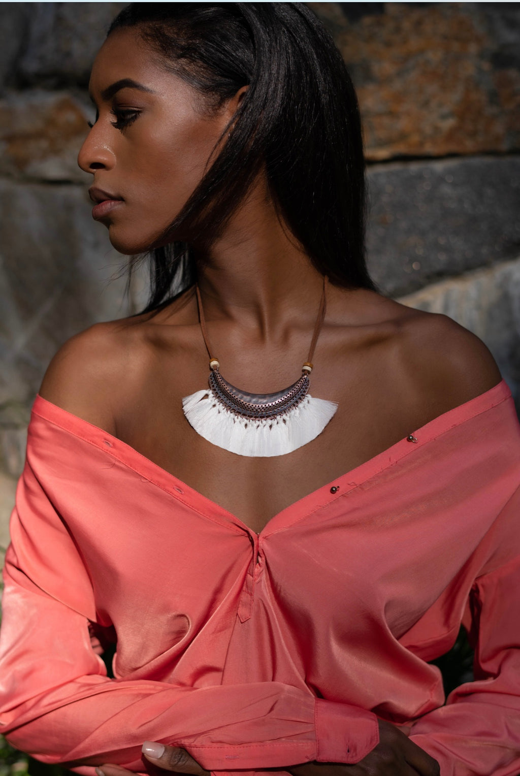 Alloy Necklace - Marabou Jewelry