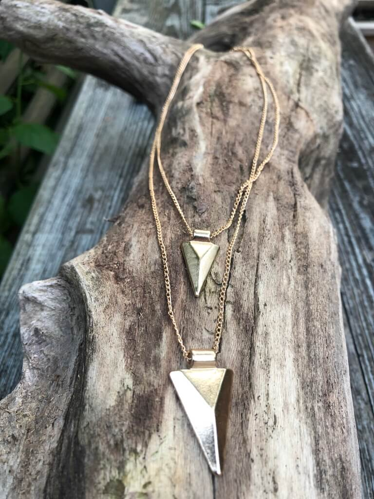 Triangle Necklace - Marabou Jewelry