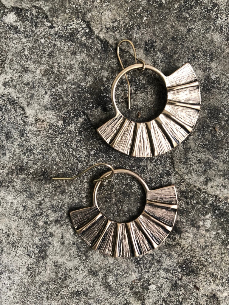 Fan Fan Earrings - Marabou Jewelry