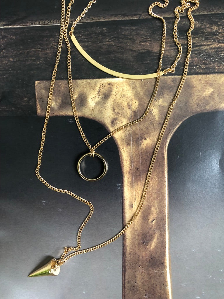 Golden Arrow Necklace - Marabou Jewelry