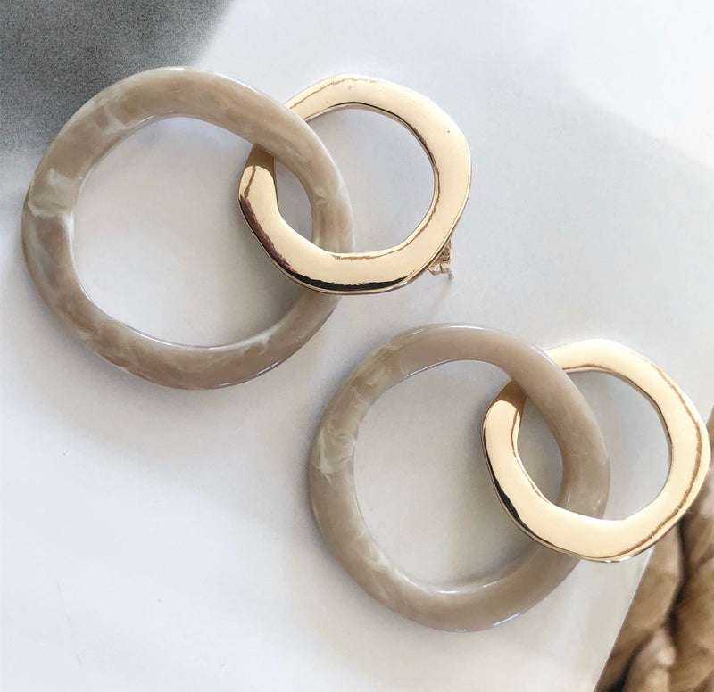 Geometric Resin Hoops - Marabou Jewelry