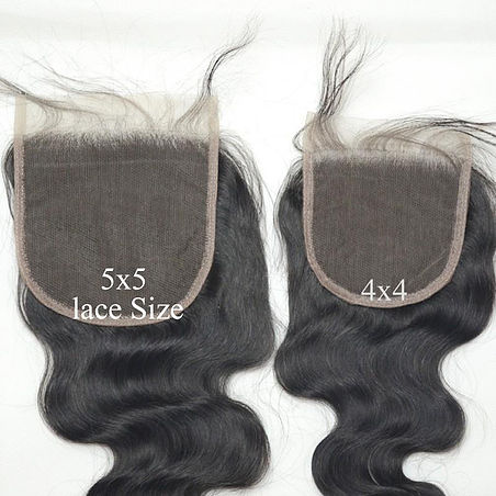 5x5 Transparent Lace Closure