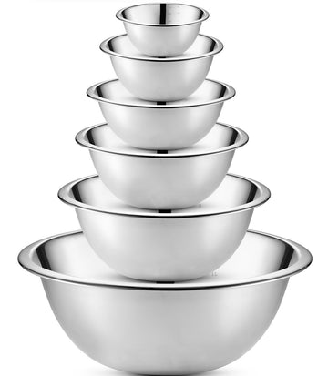 Stainless Steel Mixing Bowls, Set of 6