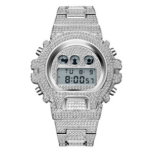 ROYAL LED WATCH IN 18K WHITE GOLD WITH CZ DIAMOND