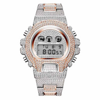 ROYAL LED WATCH IN 2-TONE ROSE GOLD WITH CZ DIAMOND