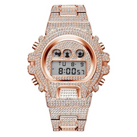 ROYAL LED WATCH IN 18K ROSE GOLD WITH CZ DIAMOND