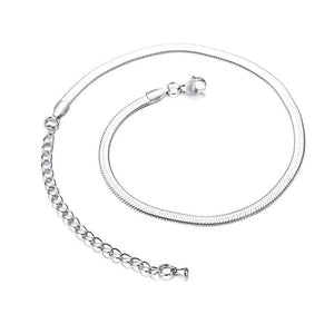 5MM HERRINGBONE CHAIN WHITE GOLD PLATED