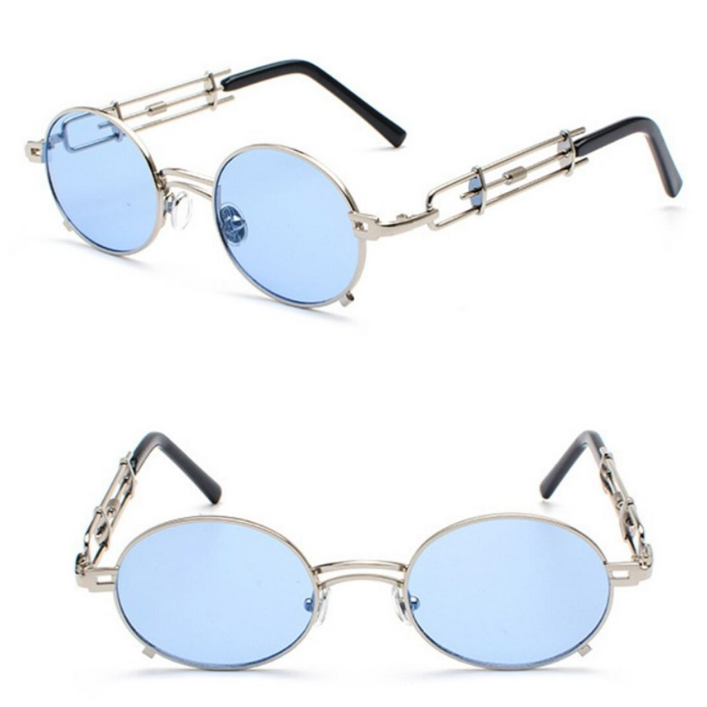 STRAP SUNGLASSES (GOLD-SKY LENS)