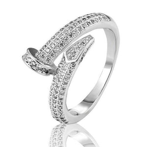 SOLID S925 SILVER JUST UN CLOU CZ RING