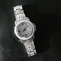 BAGUETTE Cz WATCH IN WHITE GOLD