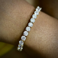 5MM TENNIS BRACELETS YELLOW GOLD PLATED