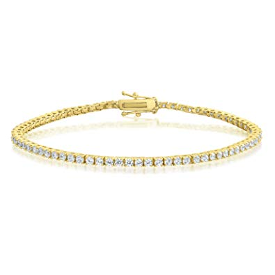 2.8MM PREMIUM CZ TENNIS BRACELETS 18K YELLOW GOLD