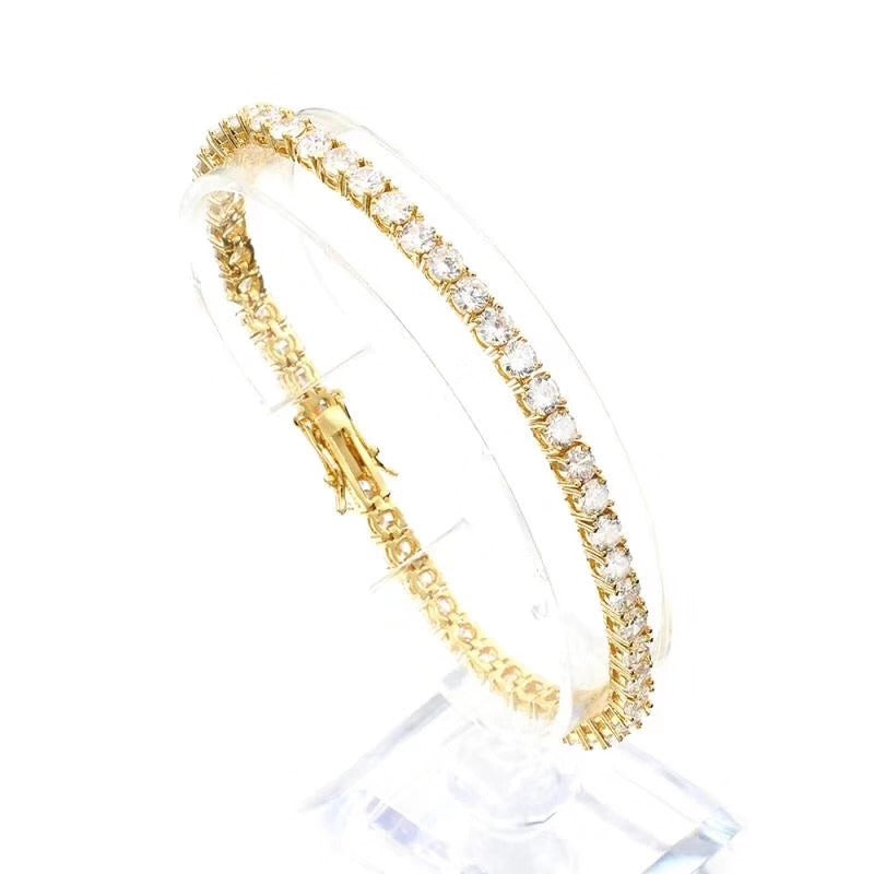 4MM PREMIUM CZ TENNIS BRACELETS 18K GOLD