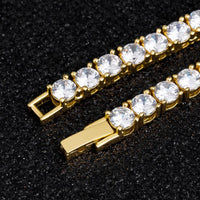 3MM TENNIS CHAIN ALLOY YELLOW GOLD PLATED