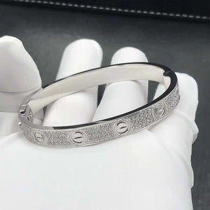 LᎾVE BANGLE CZ WHITE GOLD