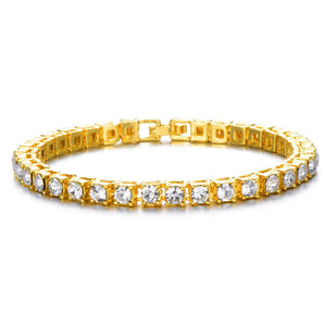 5MM GOLD PLATED  TENNIS BRACELETS