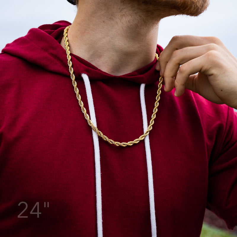 5MM GOLD ROPE DOOKIE CHAIN