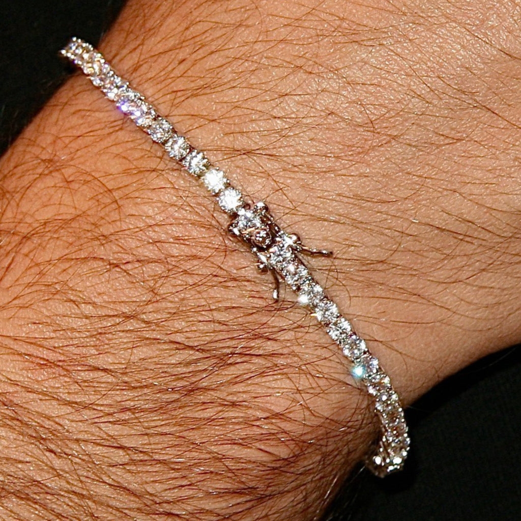 2.8MM PREMIUM CZ TENNIS BRACELETS 18K WHITE GOLD