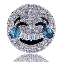 😂LAUGHING EMOJI LAB DIAMOND RINGS