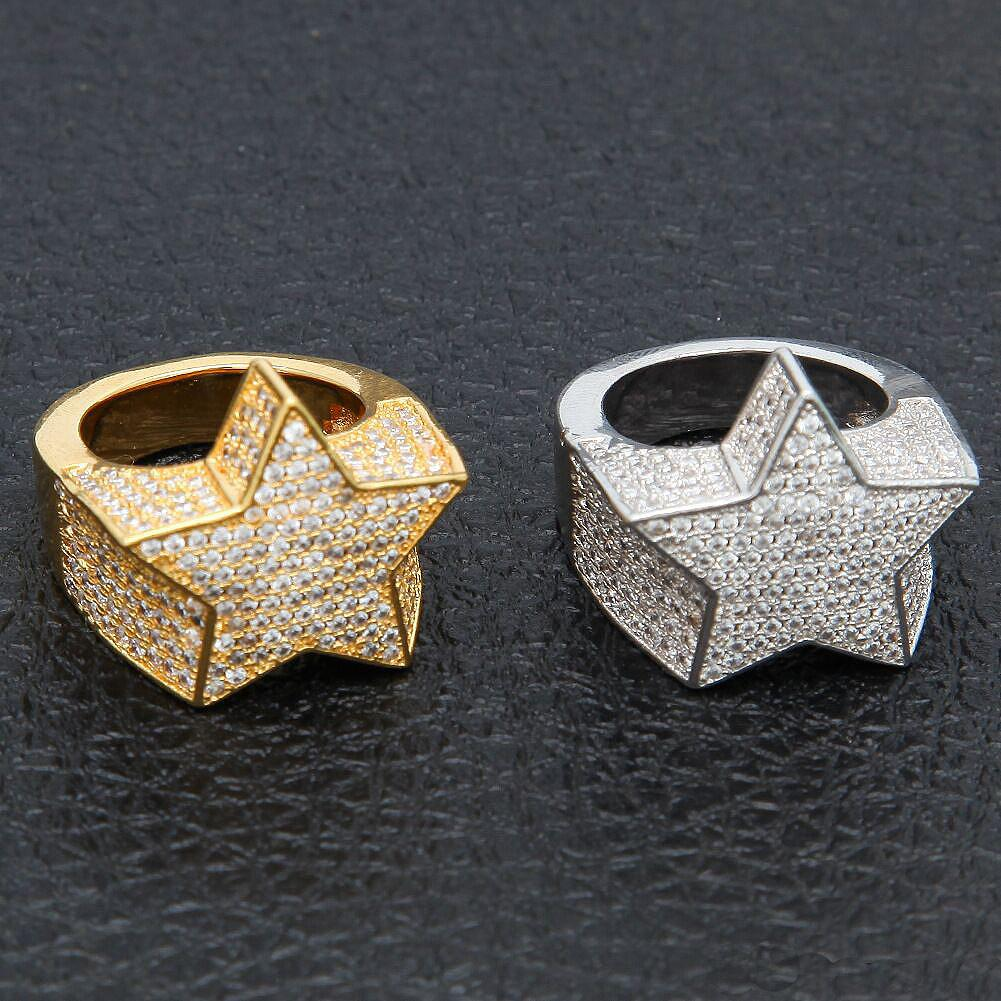 MIGOS CZ STAR CLUSTER DIAMOND SIMULATED RINGS