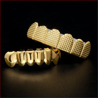 HIPHOP GOLD PLATED TEETH GRILLZ