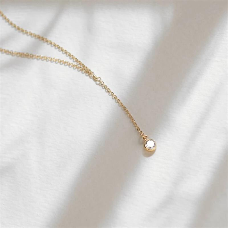 TINY CZ DIMAOND NECKLACE S925 SILVER